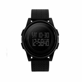 Digital-Armbanduhr, großes Gesicht, für Business/Casual/Sport, LED, Militär-Stil, wasserfest, mit Stoppuhr, Wecker, einfache Armbanduhr - 1