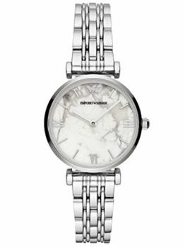 Emporio Armani Damen Analog Quarz Uhr mit Edelstahl Armband AR11170 - 1
