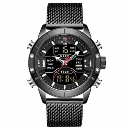 Herrenuhren Herren Sportuhren Quarz Digital Chronograph Uhr Männlich Militär Armbanduhr Für Herren 24.5cm BB - 1
