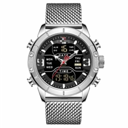 Herrenuhren Herren Sportuhren Quarz Digital Chronograph Uhr Männlich Militär Armbanduhr Für Herren 24.5cm B - 1