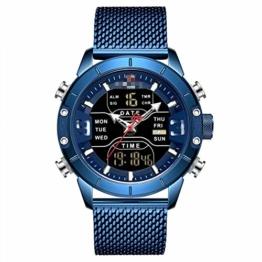 Herrenuhren Herren Sportuhren Quarz Digital Chronograph Uhr Männlich Militär Armbanduhr Für Herren 24.5cm Bebe - 1
