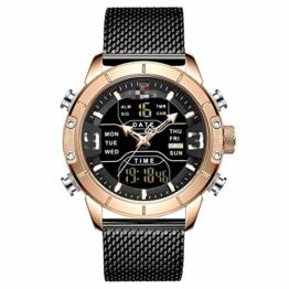 Herrenuhren Herren Sportuhren Quarz Digital Chronograph Uhr Männlich Militär Armbanduhr Für Herren 24.5cm RGB - 1