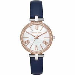 Michael Kors Damen Analog Quarz Uhr mit Leder Armband MK2833 - 1