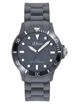 s.Oliver Unisex-Armbanduhr Analog Silikon - SO-2579-PQ - grau - 1