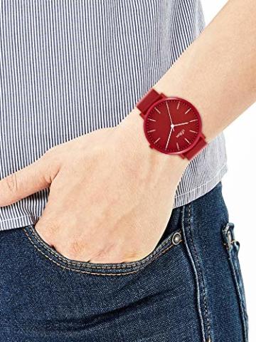 s.Oliver Unisex– Erwachsene Analog Quarz Uhr mit Silicone Armband SO-3953-PQ - 5