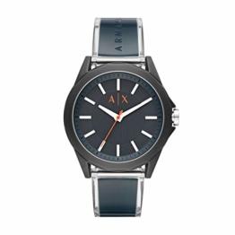 Armani Exchange Herren Analog Quarz Uhr mit Polyurethan Armband AX2642 - 1