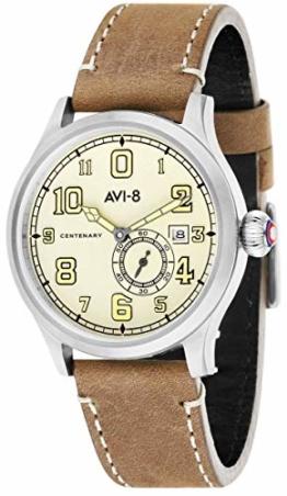 AVI-8 Fly Boy Herren-Armbanduhr – Braun/Creme - 1