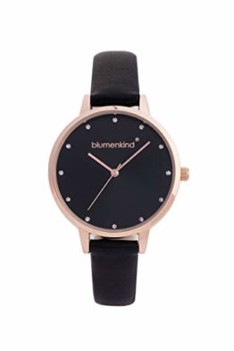 Blumenkind Uhr London rosé/schwarz m. Kunstlederarmband - 1