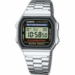Casio a168wa-1a–Digitaluhr Unisex mit Edelstahl Armband - 1