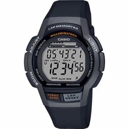 CASIO Herren Digital Quarz Uhr mit Harz Armband WS-1000H-1AVEF - 1