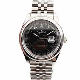 Classic Wristwatch New Automatic Mechanical Men Datejust Stainless Steel Sapphire Silver Black Smooth Bezel President Sport Watch 36MM (Rome Black) - 1