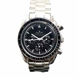 Classic Wristwatch New Men Automatic Mechanical Watch Speed Luminous Ceramic Bezel Crystal Sapphire Black Leather Limit Sport 40mm AAA (Steel) - 1