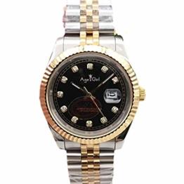Classic Wristwatch New Men Watches Datejust Stainless Steel Automatic Mechanical Sapphire Silver Gold Black Diamond Rome 41mm AAA+ (Black Diamond) - 1