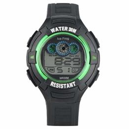 Concise schwarz-grünes Gehäuse, Sport-Digitaluhr für Studenten, hochwertige analoge elektronische Uhren für Männer, Militär Armee Sport LED wasserdicht Armbanduhr für Männer - 1
