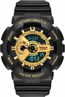 Digitaluhr Herren Sport Armbanduhr Militärische für Männer mit Wecker Kalender Stoppuhr Stoßfest 3D Coole Design Bunte Herrenuhr - 1
