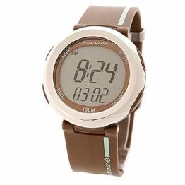 Dunlop Unisex Erwachsene Digital Quarz Uhr mit Gummi Armband 9.33004E+12 - 1