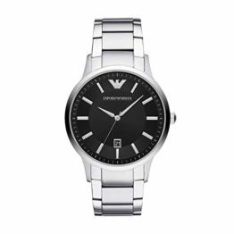 Emporio Armani Herren Analog Quarz Uhr mit Edelstahl Armband AR11181 - 1