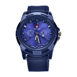 Fanuse Neue Art und Weise, die Militaeruhren Armee Uhr Land, See und Luftwaffen Sport Uhr strickt, Blau - 1