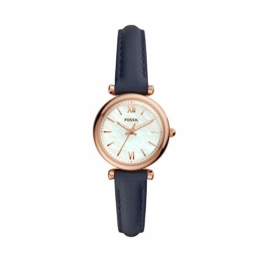 Fossil Damen Analog Quarz Uhr mit Leder Armband ES4502 - 1