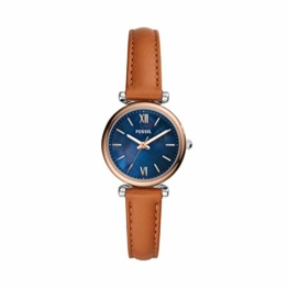 Fossil Damen Analog Quarz Uhr mit Leder Armband ES4701 - 1