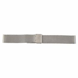 Gaetooely Gurt Ersatz Stahl Silber Klappband Fuer Uhr Neu 20mm - 1
