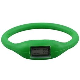 Gaetooely Sport Digital Silikon Gummi Jelly Anion Armband Armbanduhr Unisex Gruen - 1