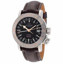 Glycine Herren Armbanduhr Airman 18 GMT Automatik schwarzes Zifferblatt GL0231 - 1