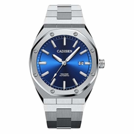Herren Automatik-Uhr Armbanduhr Mechanisch mit Edelstahl Armband - 1