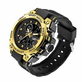 Herren Digitaluhr Schock Militär Sportuhren wasserdichte Elektronische Armbanduhr Herrenuhr 24cm Gold - 1