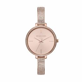 Michael Kors Damen Analog Quarz Uhr mit Edelstahl Armband MK3785 - 1