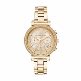 Michael Kors Damen Analog Quarz Uhr mit Edelstahl Armband MK6559 - 1