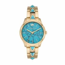 Michael Kors Damen Analog Quarz Uhr mit Edelstahl Armband MK6670 - 1