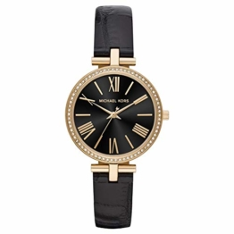 Michael Kors Damen Analog Quarz Uhr mit Leder Armband MK2789 - 1
