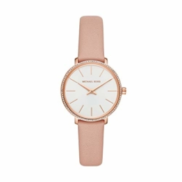 Michael Kors Damen Analog Quarz Uhr mit Leder Armband MK2803 - 1