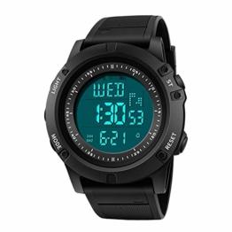 Militär Männer Sportuhr Led Digitaluhr Countdown Stoßdichte wasserdichte Elektronische Uhren 23cm Schwarz-Weiss - 1