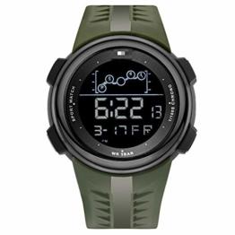 Mode Digitaluhr Herren Casual Outdoor Sportuhr Für Herren Chronograph Herren Armbanduhr 21cm Armeegrün - 1