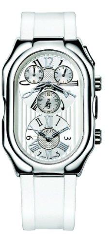 Philip Stein–13-vw-rw–Armbanduhr–Quarz Analog–Weißes Ziffernblatt–Armband Silikon - 1