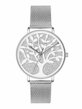 s.Oliver Time Damen Analog Quarz Uhr mit Edelstahl Armband SO-3595-MQ - 1