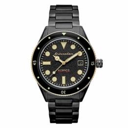 Spinnaker Herren-Armbanduhr, automatisch, 40 mm, schwarzes Zifferblatt, Armband aus Stahl, Schwarz, SP-5075-33 - 1