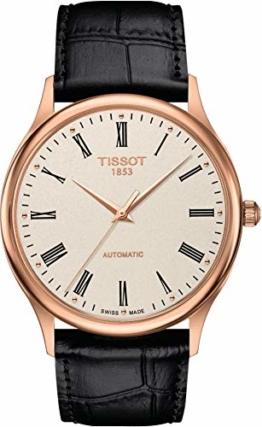Tissot Herren-Uhren Analog Automatik One Size Leder 87695867 - 1