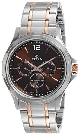 Titan Neo Multifunktions-Armbanduhr für Herren, Schwarzes Zifferblatt - 1