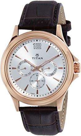 Titan Neo Multifunktions-Armbanduhr für Herren, weißes Zifferblatt - 1
