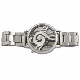 Wivarra Uhren Hinweis Notenschrift Metall Quarz Armbanduhr Mode - 1
