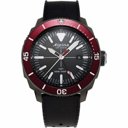 Alpina Geneve Seastrong Quartz GMT AL-247LGBRG4TV6 Herrenarmbanduhr - 1