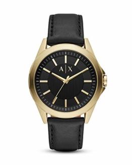 Armani Exchange Herren Analog Quarz Uhr mit Leder Armband AX2636 - 1