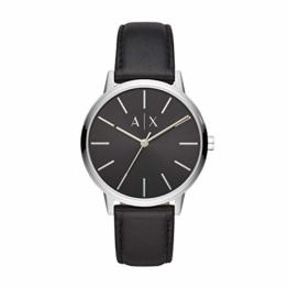 Armani Exchange Herren Analog Quarz Uhr mit Leder Armband AX2703 - 1