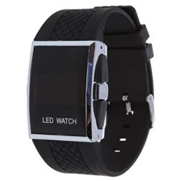 Cuasting Luxux Maenner rote LED helle Sport Armbanduhr Geschenk Art - Schwarz - 1