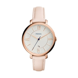 Fossil Damen Analog Quarz Uhr mit Leder Armband ES3988 - 1