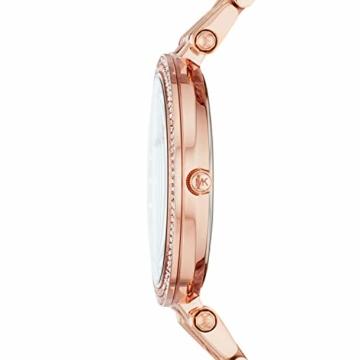 Michael Kors Damen Analog Quarz Uhr mit Edelstahl Armband MK4408 - 2
