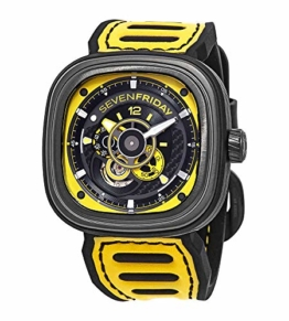 Sevenfriday P3B Racing Team Automatik gelbes Zifferblatt Herrenuhr P3B/03 Racing Team Gelb - 1
